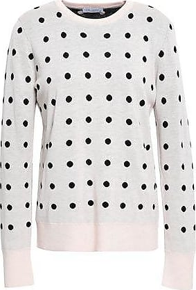 Equipment Equipment Woman Polka-dot Jacquard-knit Sweater Pastel Pink Size XS