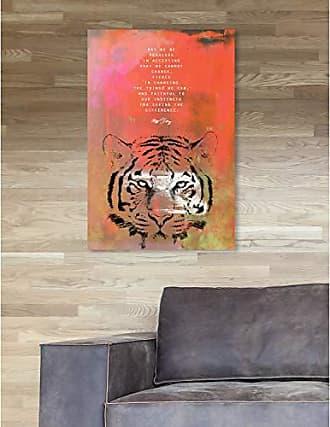 The Oliver Gal Artist Co. The Oliver Gal Artist Co. Oliver Gal Maggie P Chang-Tiger Orange Wild Animals Wall Art Print Premium Canvas 16 x 24