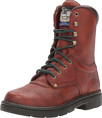 Georgia Georgia Boot Men?s Eagle Light 8? Work Boot,Brown,10.5 W