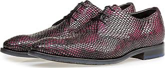 Floris Van Bommel Roder Lackleder-Schnürschuh mit Print, Business Schuhe, Handgefertigt
