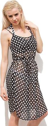 Pour Moi? Key West Beach Dress Black/White New Size L - 7215
