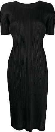 Issey Miyake micro pleated midi dress - Black