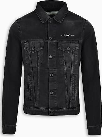 giacca jeans uomo nera
