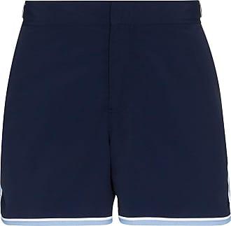 Orlebar Brown Short de natação com listras na lateral - Azul