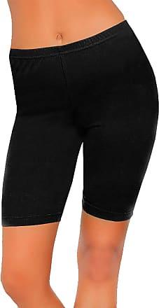21Fashion Womens 1/2 Length Cotton Cycling Short Leggings Ladies Gym Fitness Dance Legging Black UK 22