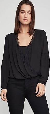 BCBGeneration Faux Wrap High-Low Top