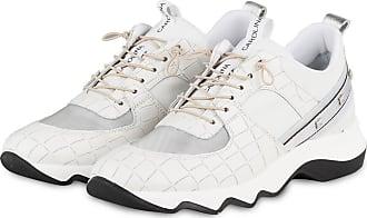 Donna Carolina Plateau-Sneaker mit Nietenbesatz - WEISS