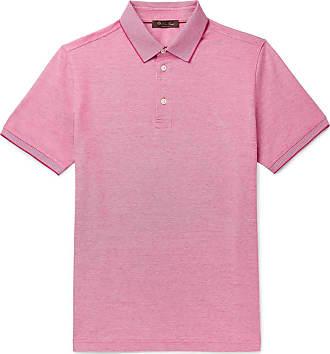 Loro Piana Mélange Cotton-piqué Polo Shirt - Pink