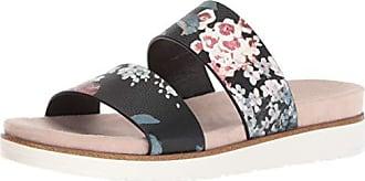 Kensie Womens Dominic Slide Sandal, Black Floral, 8.5 M US