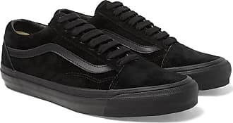Vans Og Old Skool Lx Leather-trimmed Suede Sneakers - Black