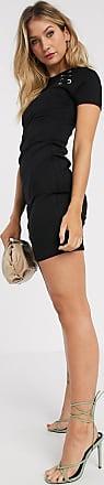 Karen Millen Schwarzes Minikleid mit Ösendetail