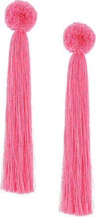 Yuliya Magdych Liza oversized tassel earrings - Pink