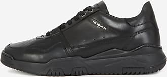 The Kooples Black leather trainers with cut-outs - MEN