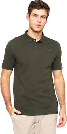 9dcadb5436d6a Calvin Klein Jeans Camisa Polo Calvin Klein Jeans Reta Básica Verde