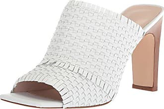 adaf0d5f5 Nine West Womens LUCILI Leather Slide Sandal White