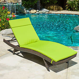 BEST SELLING HOME Outdoor Adjustable Chaise Lounge with Colored Cushion Caramel - 295120