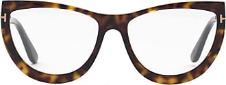 Tom Ford Eyewear Armação de Óculos Gatinho Tartaruga - Mulher - Único US
