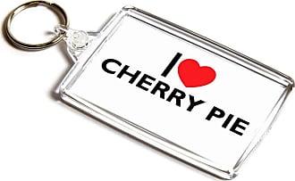 ILoveGifts KEYRING - I Love Cherry Pie - Novelty Food & Drink Gift