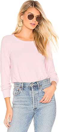 Chaser Cropped Reverse Panel Pullover in Blush