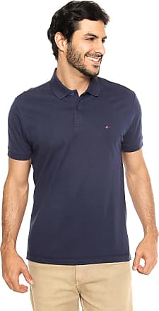 Aramis Camisa Polo Aramis Regular Fit Piquet Lisa Azul