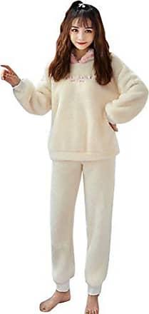 Minetom Damen M/ädchen Nachthemd Langarm Samt Pyjama Herbst Winter Weich Kleid M/ütter Tochter Bowknot Gro/ße Gr/ö/ßen Schlafkleid Viktorianischer Stil Prinzessin Nachtkleid