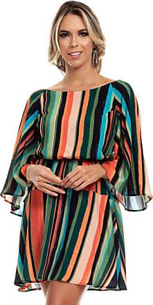 Clara Arruda Vestido Clara Arruda Curto Costa Cruzada 50448-44 - Listras