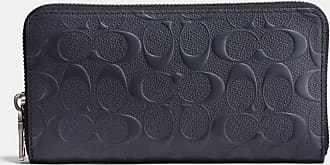 Coach Accordion Wallet In Signature Leather in Blue