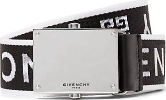 Givenchy 3.5cm Leather-trimmed Logo-jacquard Webbing Belt - Black
