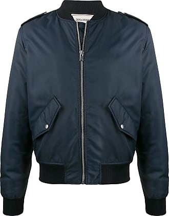 Zadig & Voltaire Benet embroidered logo bomber jacket - Blue