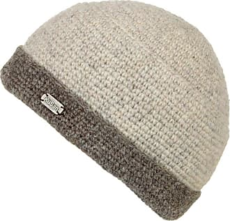 KuSan 100% Wool Knitted Turn-Up Beanie (PK839) (Oatmeal)