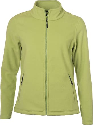 James & Nicholson Ladies Fleece Jacket with Stand-up Collar in Classic Design (L, Lime-Green)