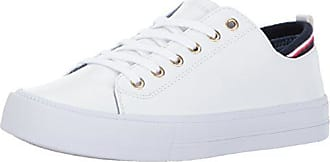 a5c485dd Tommy Hilfiger Womens Two Sneaker, White, 8.5 Medium US