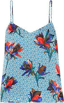 Equipment Equipment Woman Printed Silk Camisole Blue Size XL