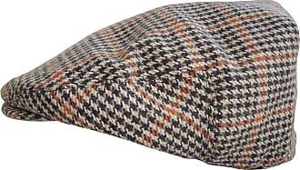 Hawkins Mens Tweed Country Flat Cap (60cm, Brown Square Check)