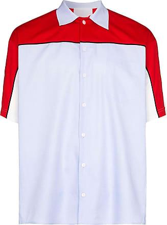 Koché Camisa color block com botões - Azul