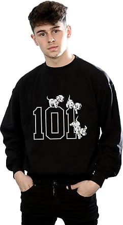 Disney Mens 101 Dalmatians 101 Doggies Sweatshirt Large Black