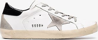 Golden Goose Golden Goose White, Black And Cream Superstar Distressed Leather Sneakers
