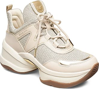 Michael Kors Olympia Trainer Låga Sneakers Creme Michael Kors Shoes