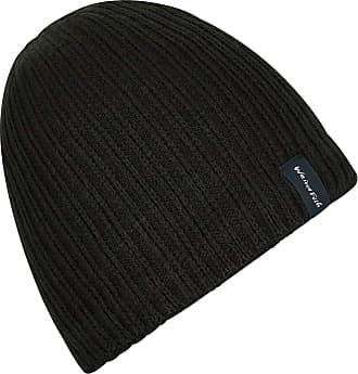 Weird Fish Bally Beanie Hat Black Size ONE