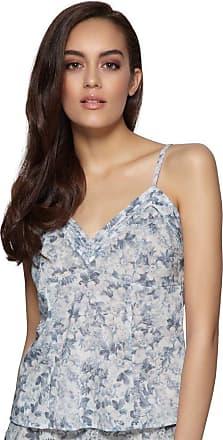 Gossard Harmony Blue Floral Print Cami Top 11297 14 UK