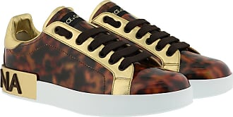 Dolce & Gabbana Sneakers - Portofino Sneaker Patent Leather Marrone - brown - Sneakers for ladies