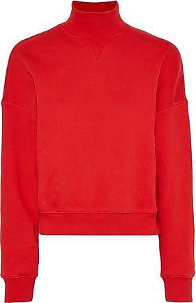 GOEN.J Goen.j Woman French Cotton-terry Turtleneck Top Red Size S