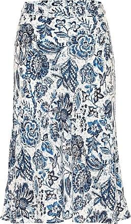 Velvet Aila floral midi skirt