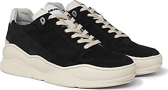 Ami Leather-trimmed Suede Sneakers - Black