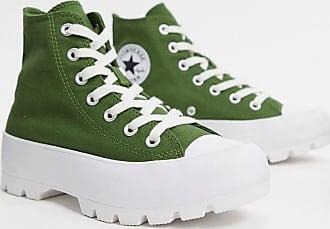 Converse Chuck Taylor Hi - Grüne Sneaker mit dicker Sohle