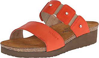 Naot Naot Womens Ashley Wedge Sandal, Orange Leather, 44 EU/12.5-13 M US