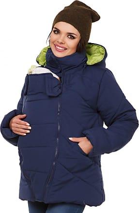 Zeta Ville Zeta Ville - Womens Maternity Padded Jacket Removable Panel Babywearing - 075c (Navy, UK 16, 2XL)