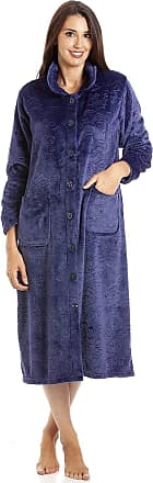 Camille Womens Various Button Housecoats 14/16 PURP