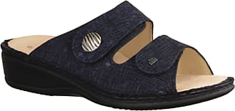 Finn Comfort Panay-S Notte (Blue) - Mules with Loose Insert Notte, Blue - Womens Shoes Mules / Toe Separators Blue Leather (CRIS) Blue Size: 6 UK