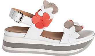 Janet Sport sandalo zeppa, 35 / bianco